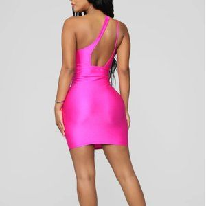 Neon Pink Fashionnova dress